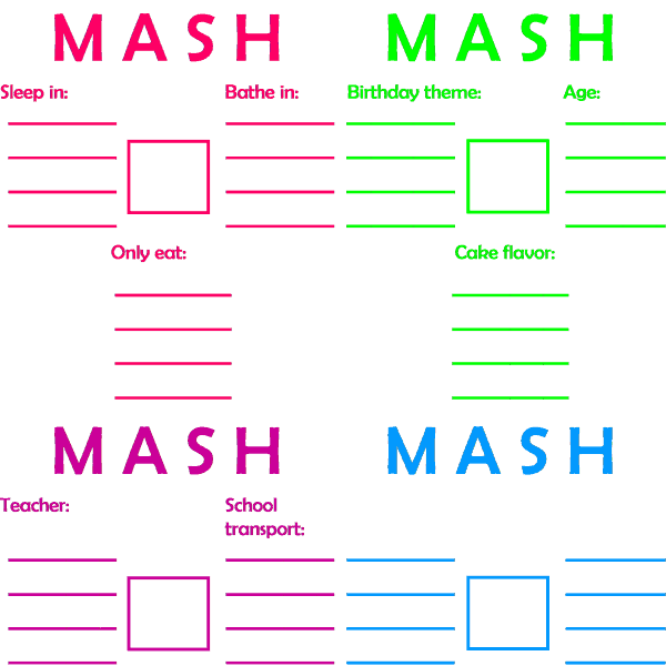 How To Play MASH With Your Kids