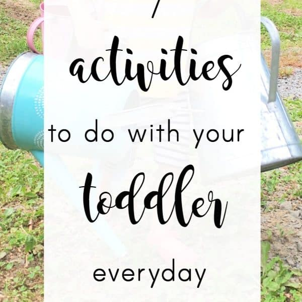 11 Things to Do With A 2 Year Old Everyday