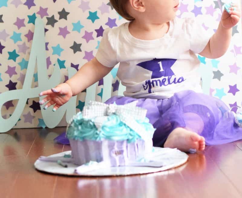 Girls First Birthday DIY Smash Cake Photography