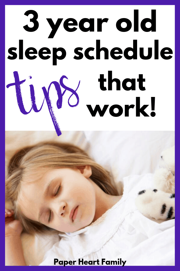 3 year old sleep schedule and tips to help your toddler fall asleep easily.