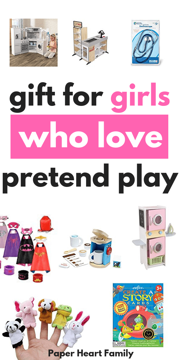 The best gifts for creative girls that love pretend play and using their imaginations.