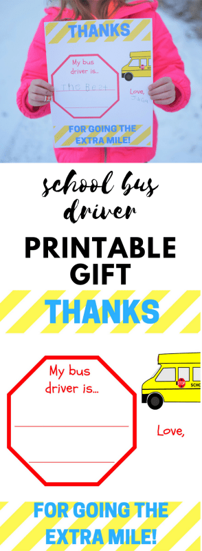 Don't know what to give your child's bus driver? This free printable bus driver appreciation card is perfect! Help your child tell her bus driver thank you and put a smile on her bus driver's face!