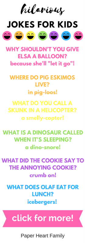 Funny Kids Jokes- This is such an awesome list of funny jokes for kids. My kids thought they were hilarious!