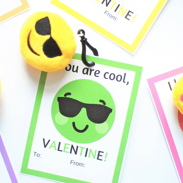 Printable Emoji Valentine Cards that will Give Kids All the Feels