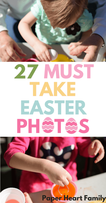 Do you want DIY Easter photo ideas for your kids? Forget the posed shots, forget the creepy mall Easter bunny and take some awesome, candid Easter pictures. Photo ideas for your Easter egg hunt, egg dyeing and Easter morning. Printable checklist included!