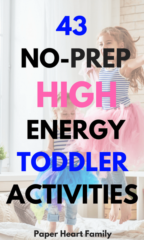 High Energy, Active Toddler Activities