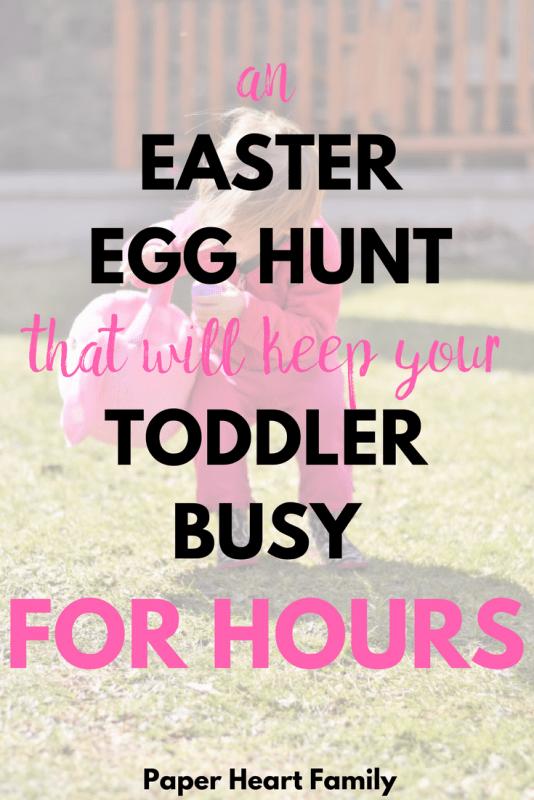 Easter egg hunt for toddlers