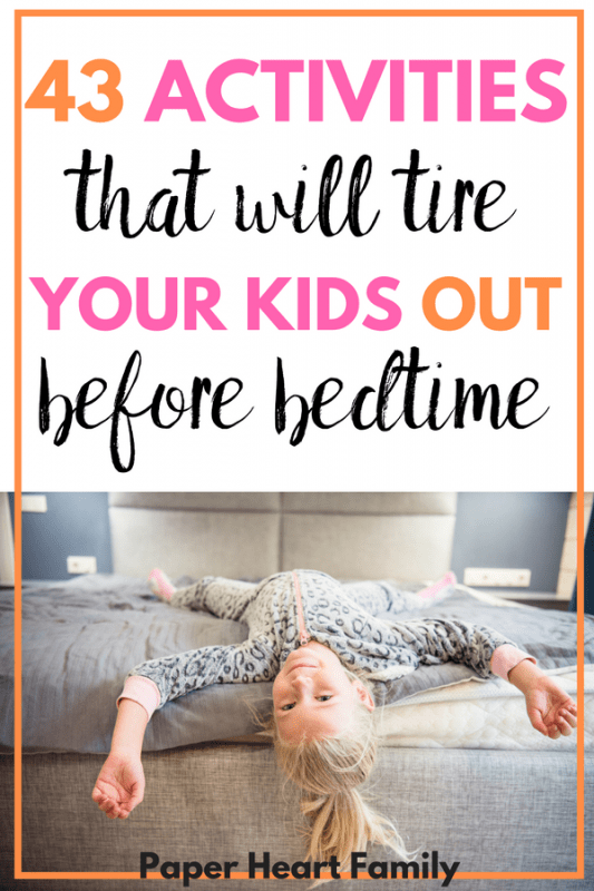 Does your toddler exhaust you? You need these activities to tire out toddlers!