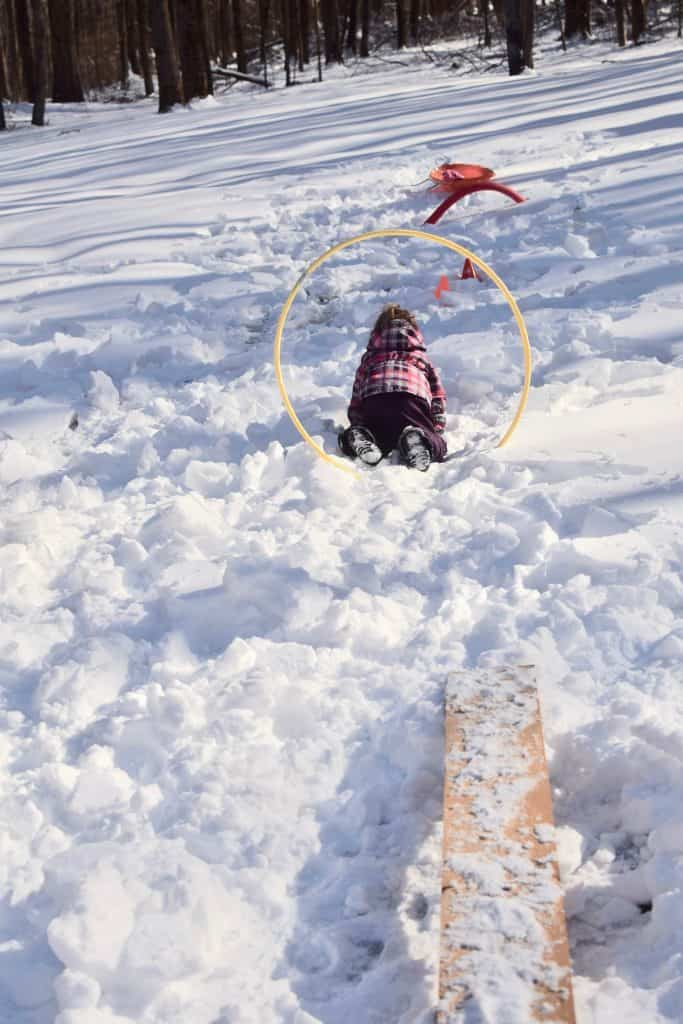 outdoor winter obstacle course