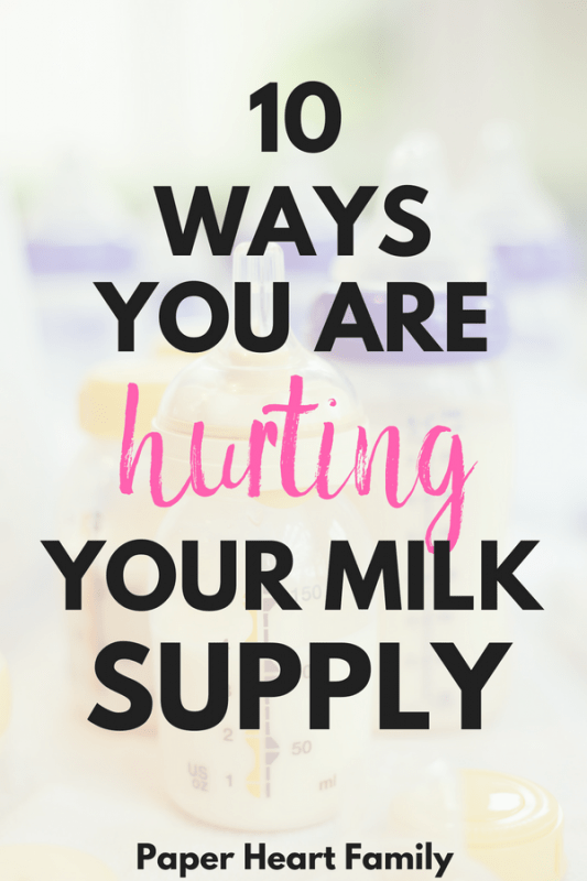 While sometimes low milk supply is out of your control when breastfeeding, there are also causes of low milk supply that you can control.