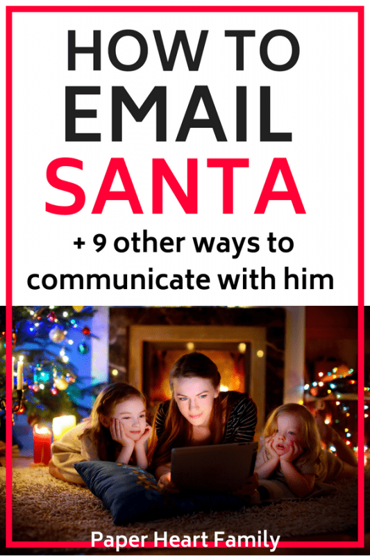 Find our how your kids can email santa, and communicate with him in other ways too!