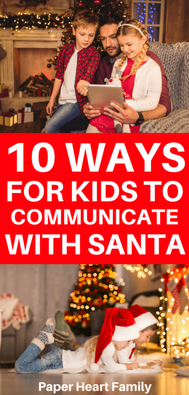 Find out how your child can communicate with Santa through text, email, a phone call, a letter or a personalized video.