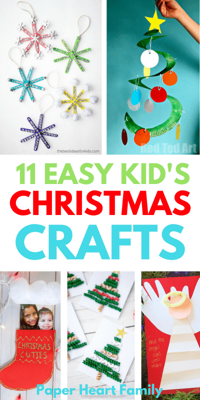 11 easy Christmas crafts for kids that are low prep and fun.