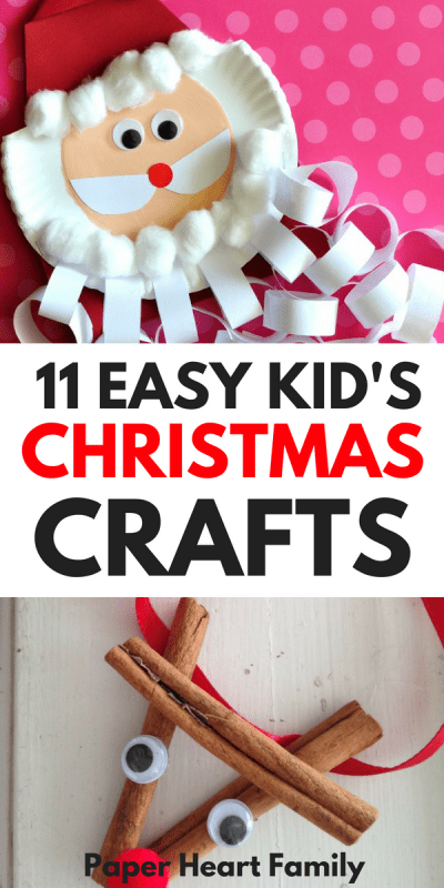 Easy Christmas crafts for kids of all ages, including cards, ornaments, advent calendars and more.