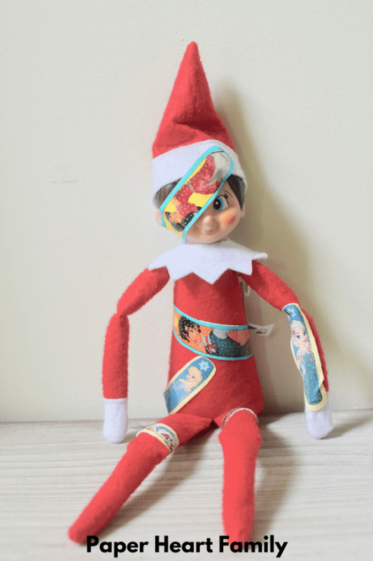 Kids love bandaids, and so does the Elf on the Shelf!