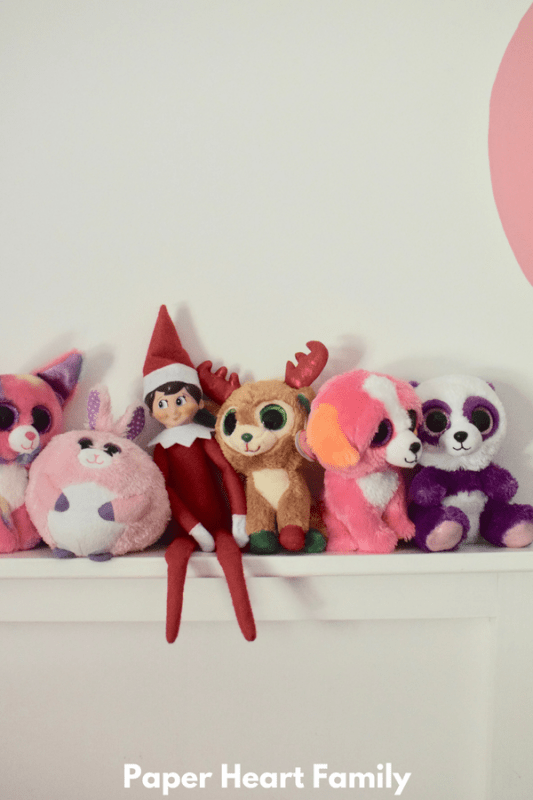 Yeah, I'm just an Elf on the Shelf hangin' with some Beanie Boos.