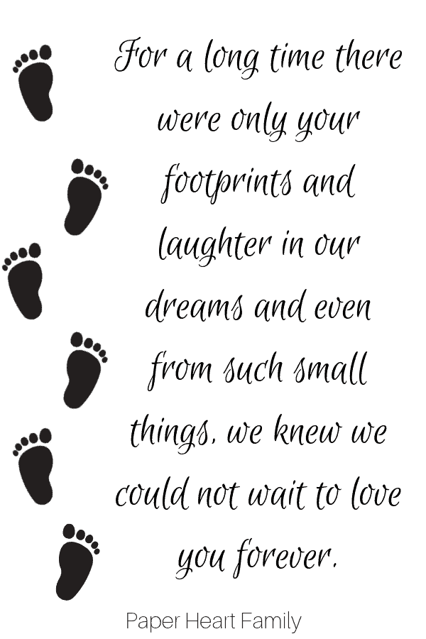 Baby footprint quotes and sayings
