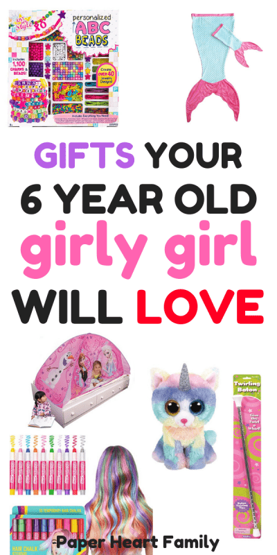 Gifts for 6 year old girly girls that girls will love