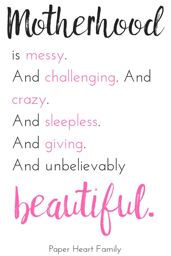 Newborn baby quotes about the challenges and beauty of motherhood.