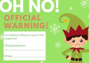 Santa's official warning for bad behavior.