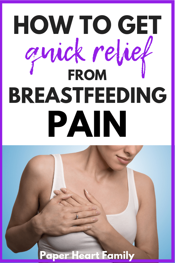 Effective ways to deal with breast pain during and after breastfeeding.