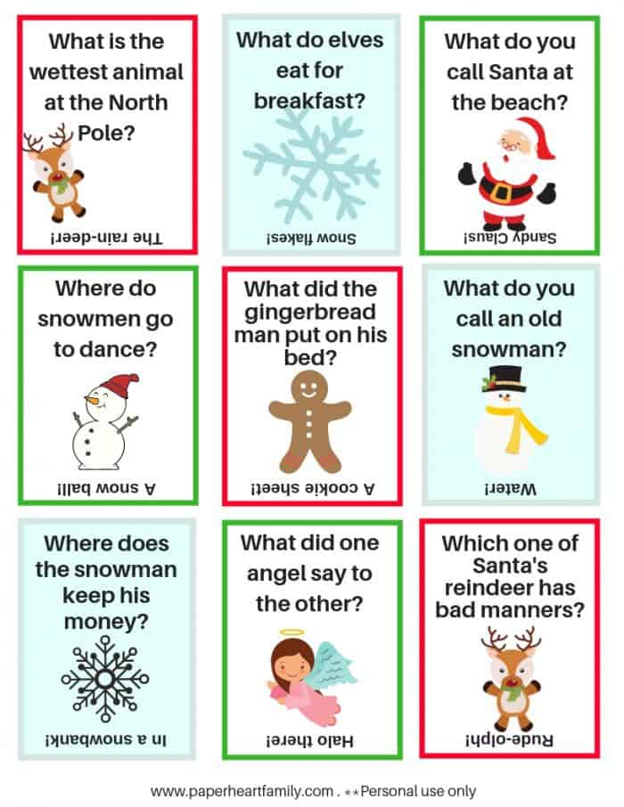You child will look forward to lunchtime each day with these Christmas lunch box jokes.