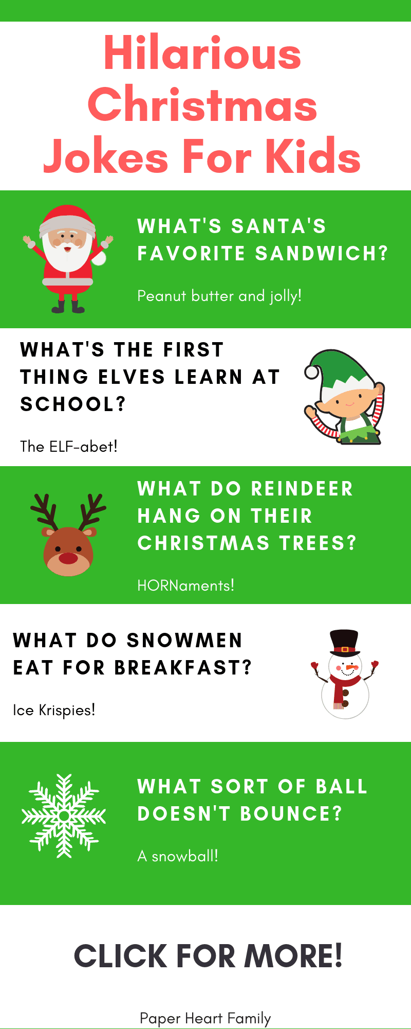 Start a new holiday tradition by sharing these Christmas jokes for kids with your family.