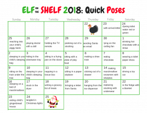 Easy Elf on the Shelf Calendar- Quick ideas for the entire month!