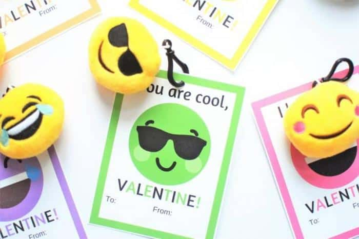 picture relating to Printable Valentine Cards for Classmates named Printable Emoji Valentine Playing cards that will Provide Children All the