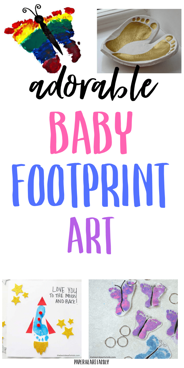 Adorable baby footprint art- a great DIY keepsake!