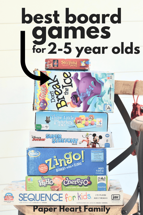 The best board games for 2-5 year olds. Toddler board games that are fun, not frustrating!