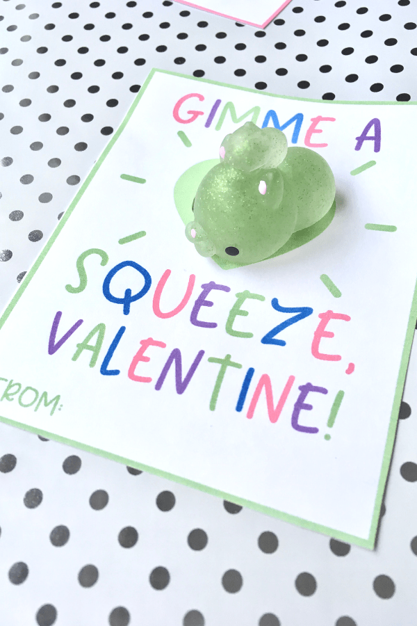 Fun Squishy toy valentines for your child's classroom and school.