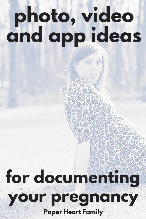 21 Ways To Document Your Pregnancy, including baby bump photos week by week, pregnancy journaling, video and more.