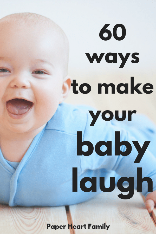 Baby dpesn't laugh? Find out when baby's typically start to laugh and 60 ways to make your baby laugh.