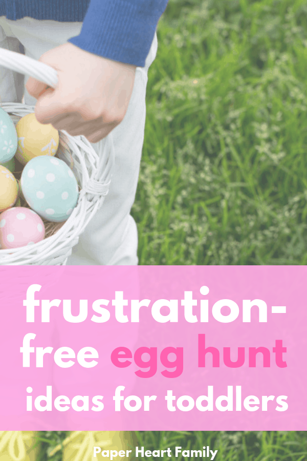 Your toddler can join in on the fun with these toddler Easter egg hunt ideas without frustration!