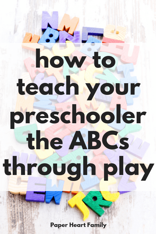 Teach your toddler letter recognition through hands-on play with these 8 play-based alphabet activities.