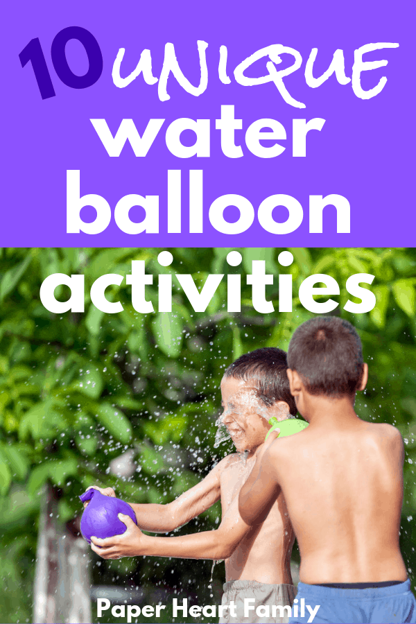Water balloon activities for kids of all ages