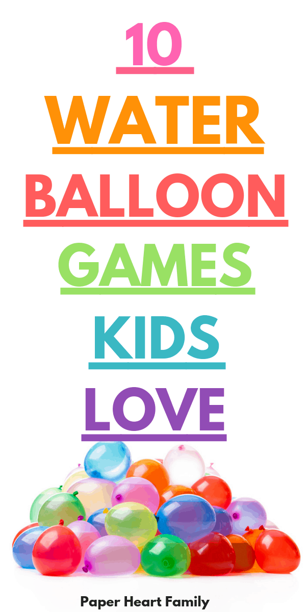 Water balloon games and activities for kids