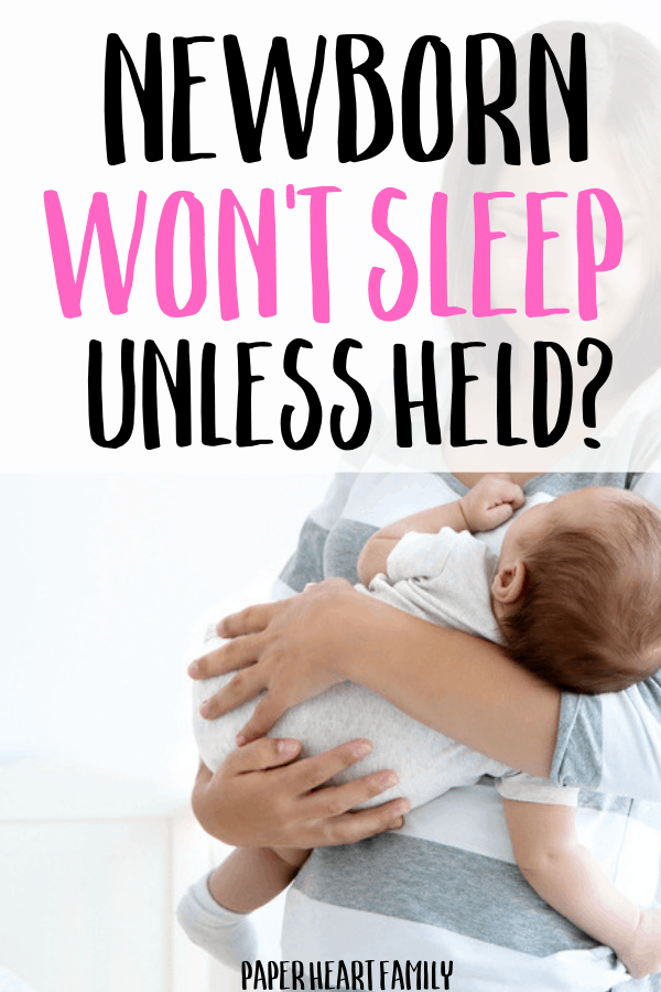 How to get your baby to sleep without being held