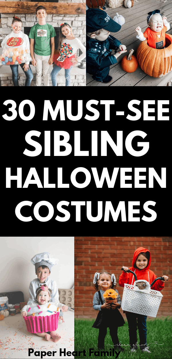 Creative sibling Halloween costume ideas