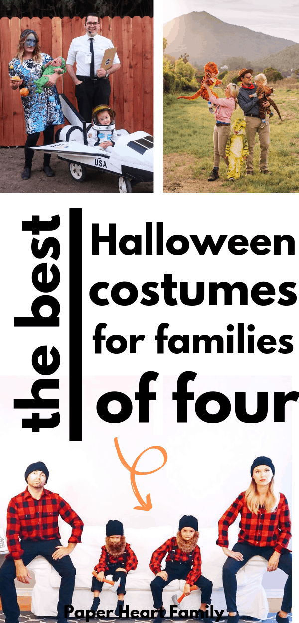 Awesome Halloween costume inspiration for families of four