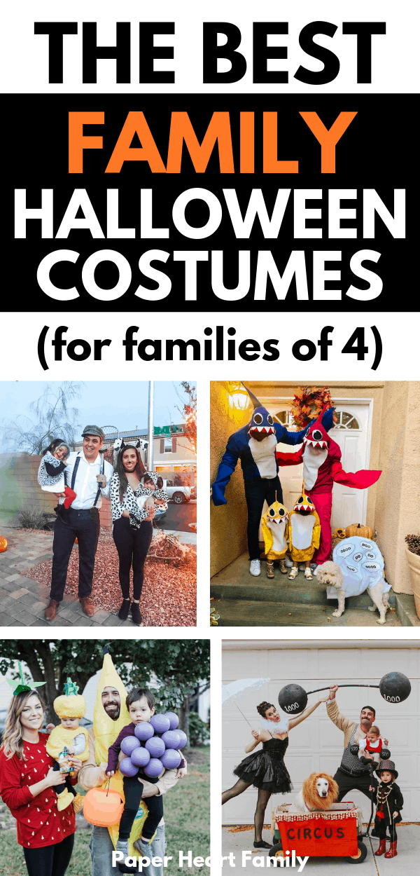 Family Halloween costumes for four