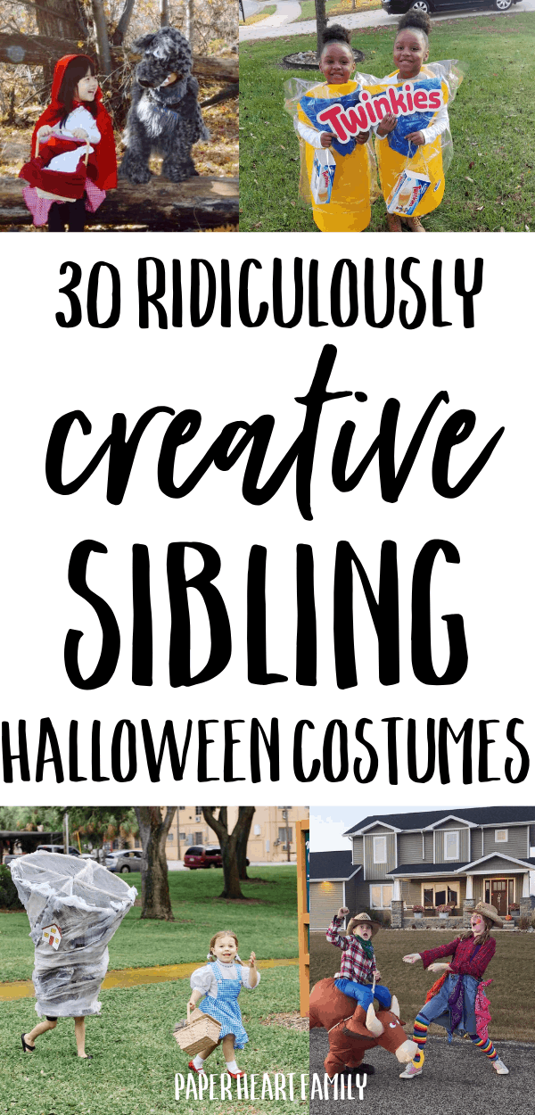 Super creative sibling Halloween costume ideas