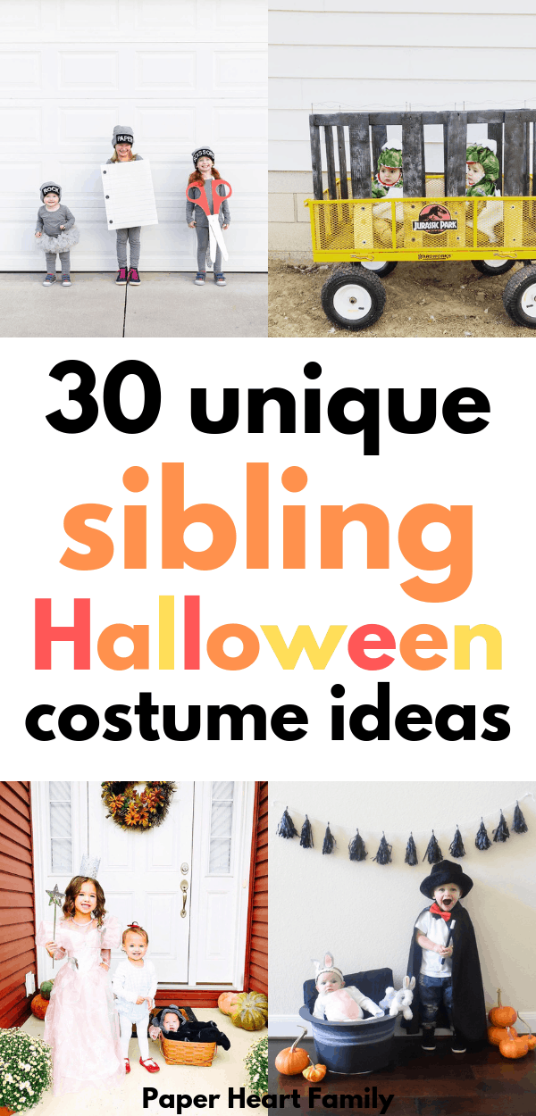Super fun and unique sibling Halloween costumes.