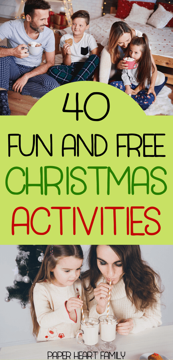 Free Christmas activities for families