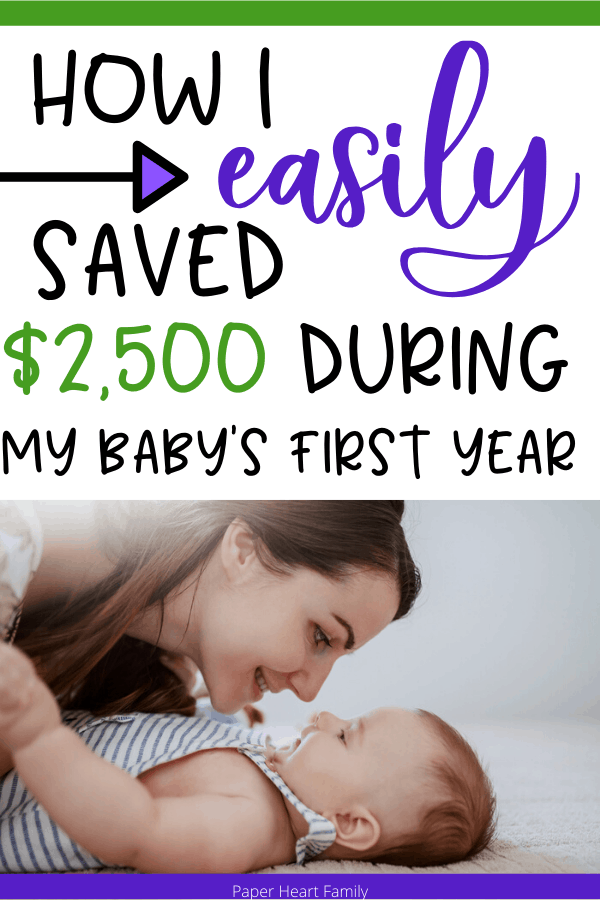 How to easily save over $2,000 during baby's first year.