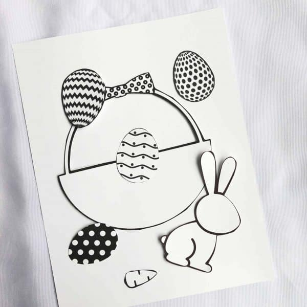 Free Printable Easter Craft For Kids (Simply Print, Cut, Color And Paste!)