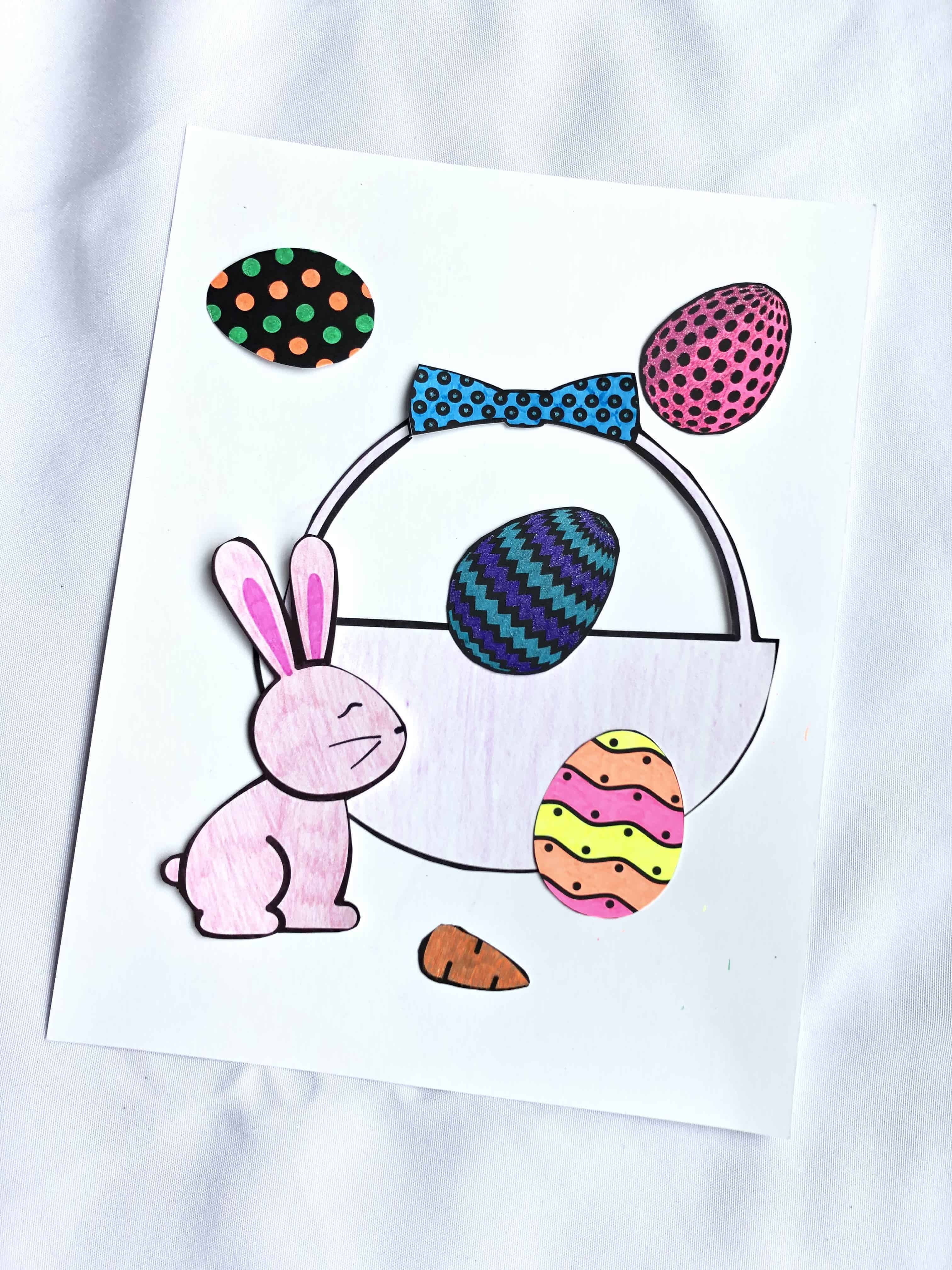 Cut And Paste Activity- Printable Easter Craft For Kids