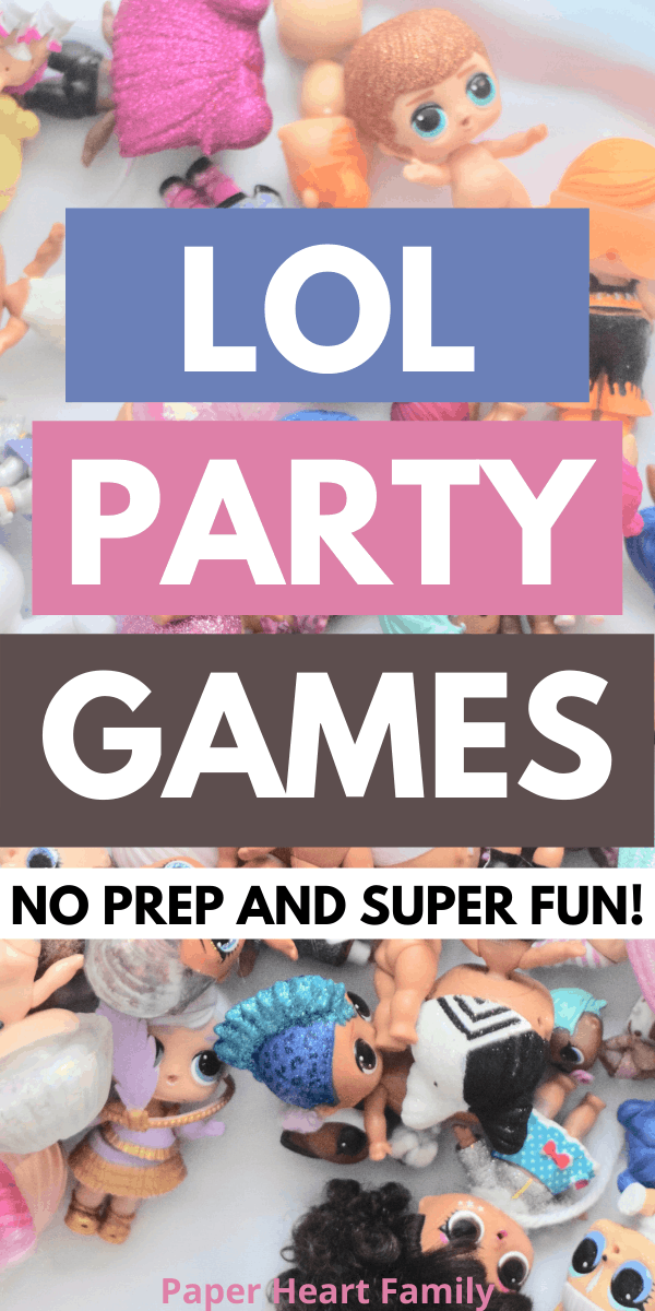 LOL Surprise Doll Quick, Easy and Fun Birthday Party Games