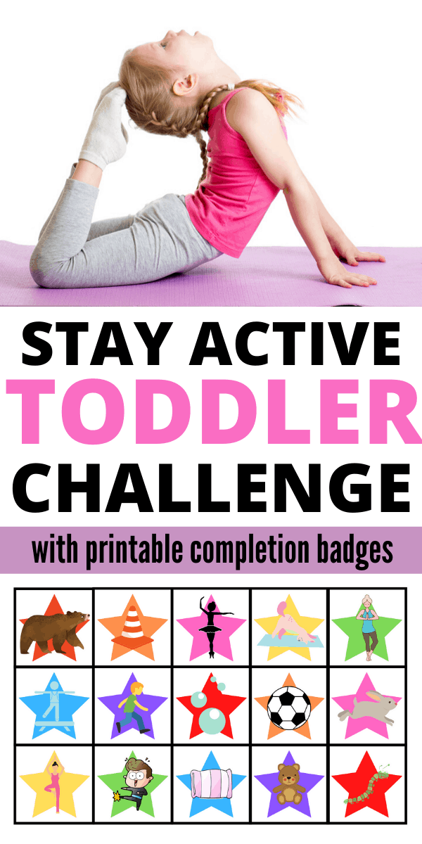 Help your toddler stay active with this fun and simple 30 day stay active challenge.
